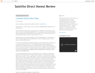 satellitedirecthonestreview.blogspot.com screenshot