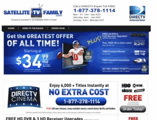 satellitetvfamily.com screenshot
