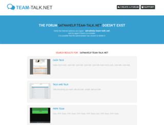 satnahelp.team-talk.net screenshot