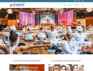 satnamfest.com screenshot