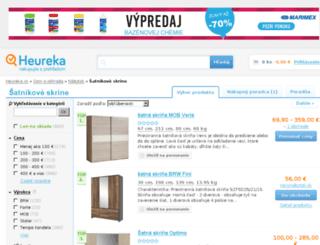 satnikove-skrine.heureka.sk screenshot