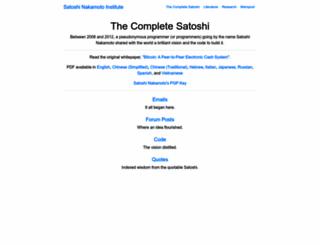 satoshi.nakamotoinstitute.org screenshot