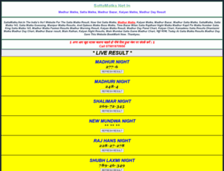 sattamatka.net.in screenshot