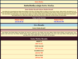 KALYAN MAIN MATKA RAGALTA at top accessify com