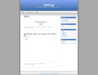 satting.wordpress.com screenshot