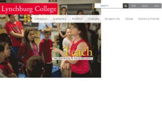 saturn.lynchburg.edu screenshot