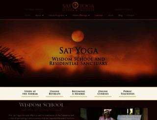 satyogainstitute.org screenshot