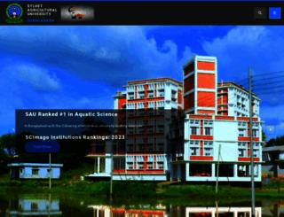 sau.ac.bd screenshot