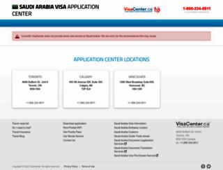 saudi-arabia.visacenter.ca screenshot