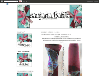 saujanabatik.blogspot.com screenshot