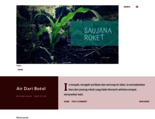 saujanaroket.blogspot.com screenshot