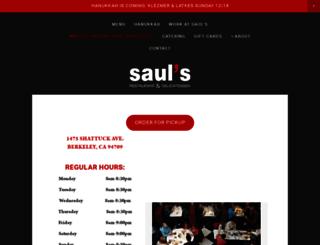 saulsdeli.com screenshot