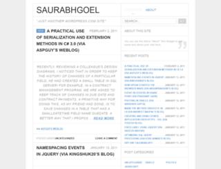 saurabhgoel.wordpress.com screenshot