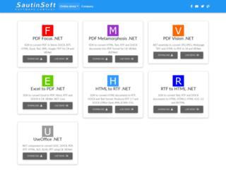 sautinsoft.net screenshot