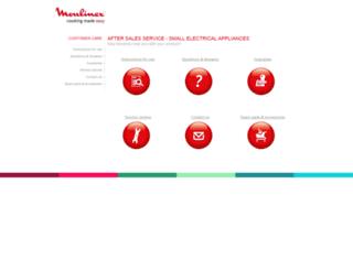 sav.moulinex.com screenshot