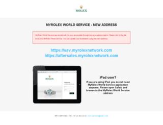 sav.myrolex.com screenshot