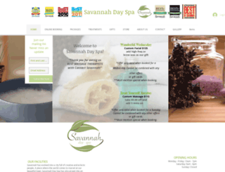 savannahdayspa.com screenshot