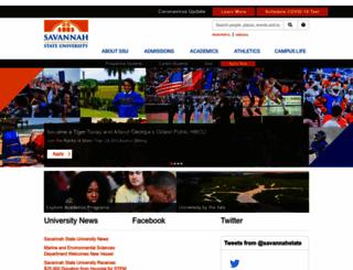 savannahstate.edu screenshot