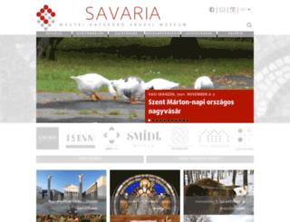 savariamuseum.hu screenshot