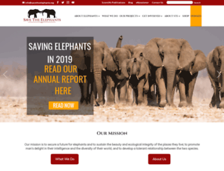 save-the-elephants.org screenshot