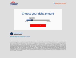 save2.freedomdebtrelief.com screenshot