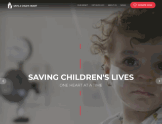 saveachildsheart.org screenshot