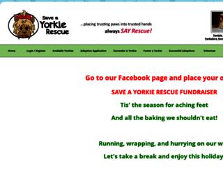 saveayorkierescue.rescuegroups.org screenshot