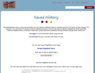 savedwebhistory.com screenshot