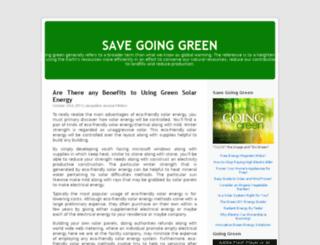 savegoingreen.blog.com screenshot
