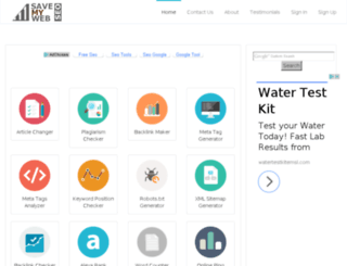 savemyweb.com screenshot