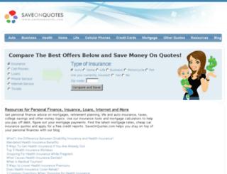 saveonquotes.com screenshot