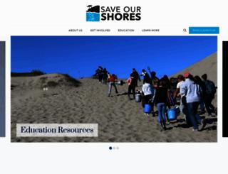saveourshores.org screenshot