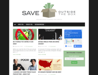 saveoutsidethebox.com screenshot