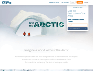 savethearctic.org screenshot
