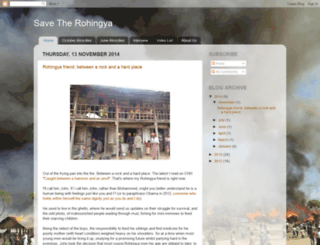 savetherohingya.blogspot.co.uk screenshot