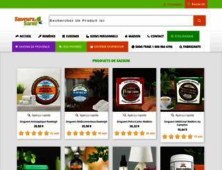 saveurs-sante.com screenshot
