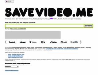 savevideo.me screenshot
