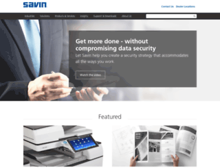 savin.com screenshot