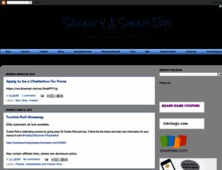 saving4asunnyday.blogspot.com screenshot