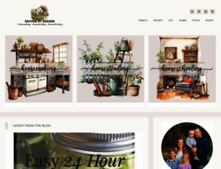 savingbydesign.com screenshot