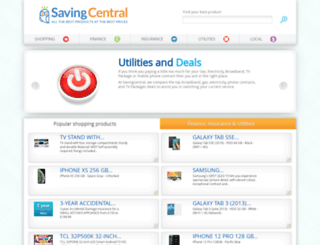 savingcentral.co.uk screenshot