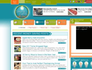savingcentswithsense.net screenshot