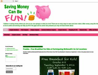 savingmoneycanbefun.blogspot.com screenshot