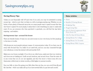 savingmoneytips.org screenshot
