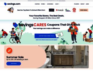 savings.com screenshot