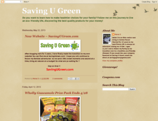 savingugreen.blogspot.com screenshot