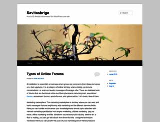 savitashrigo.wordpress.com screenshot