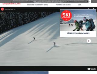 savoiemontblanc.com screenshot