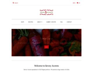 savoryaccents.com screenshot