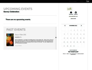 savorycelebration.ticketleap.com screenshot